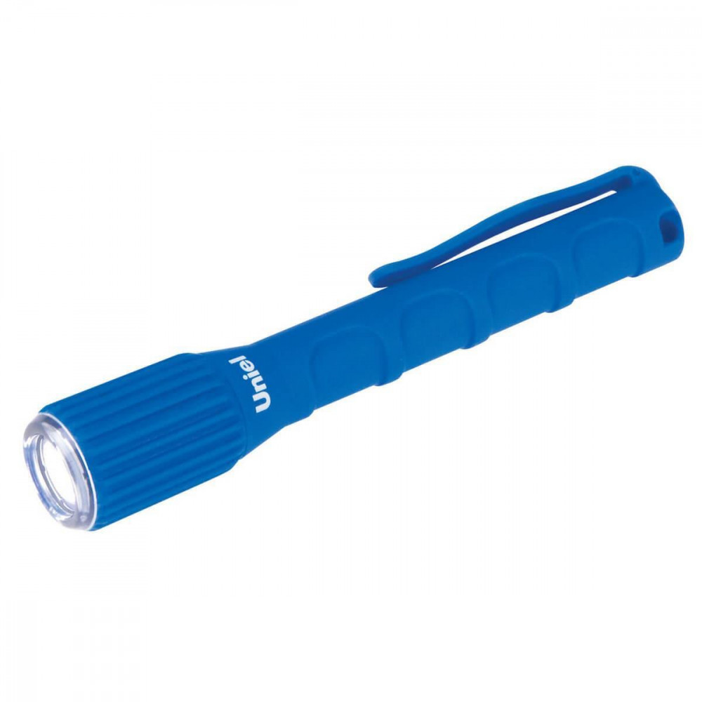 Ручной светодиодный фонарь (08331) Uniel от батареек 125х21 17 лм S-WP010-С Blue