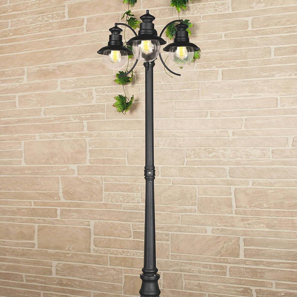 Садово-парковый cветильник Elektrostandard Talli F/3 GL 3002F/3 черный 4690389106637