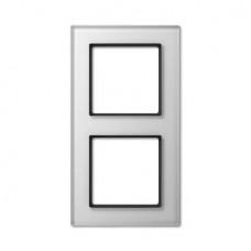 Рамка 2-постовая Jung A creation стекло белое AC582GLWW