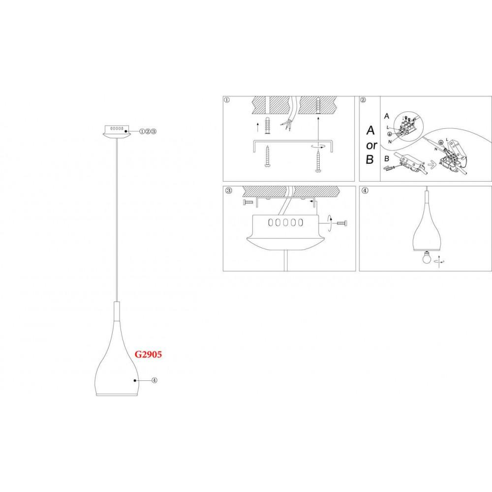 Подвесной светильник Drop 2905/1