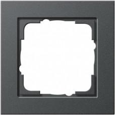 Рамка 1-постовая Gira E2 антрацит 021123