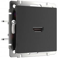 Розетка Werkel HDMI черная матовая WL08-60-11 4690389111051