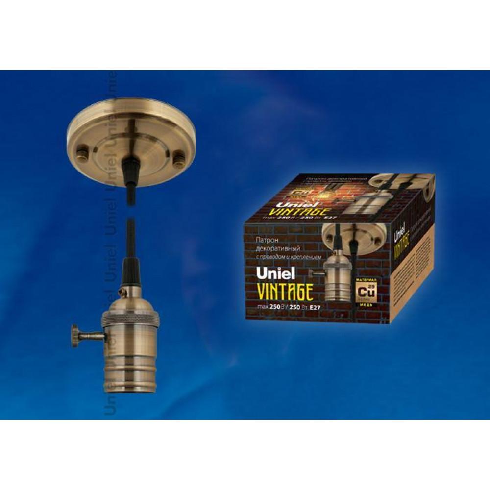 Подвесной светильник (UL-00000528) Uniel DLC-V-S21K/E27 TS/1,5M/BL Bronze