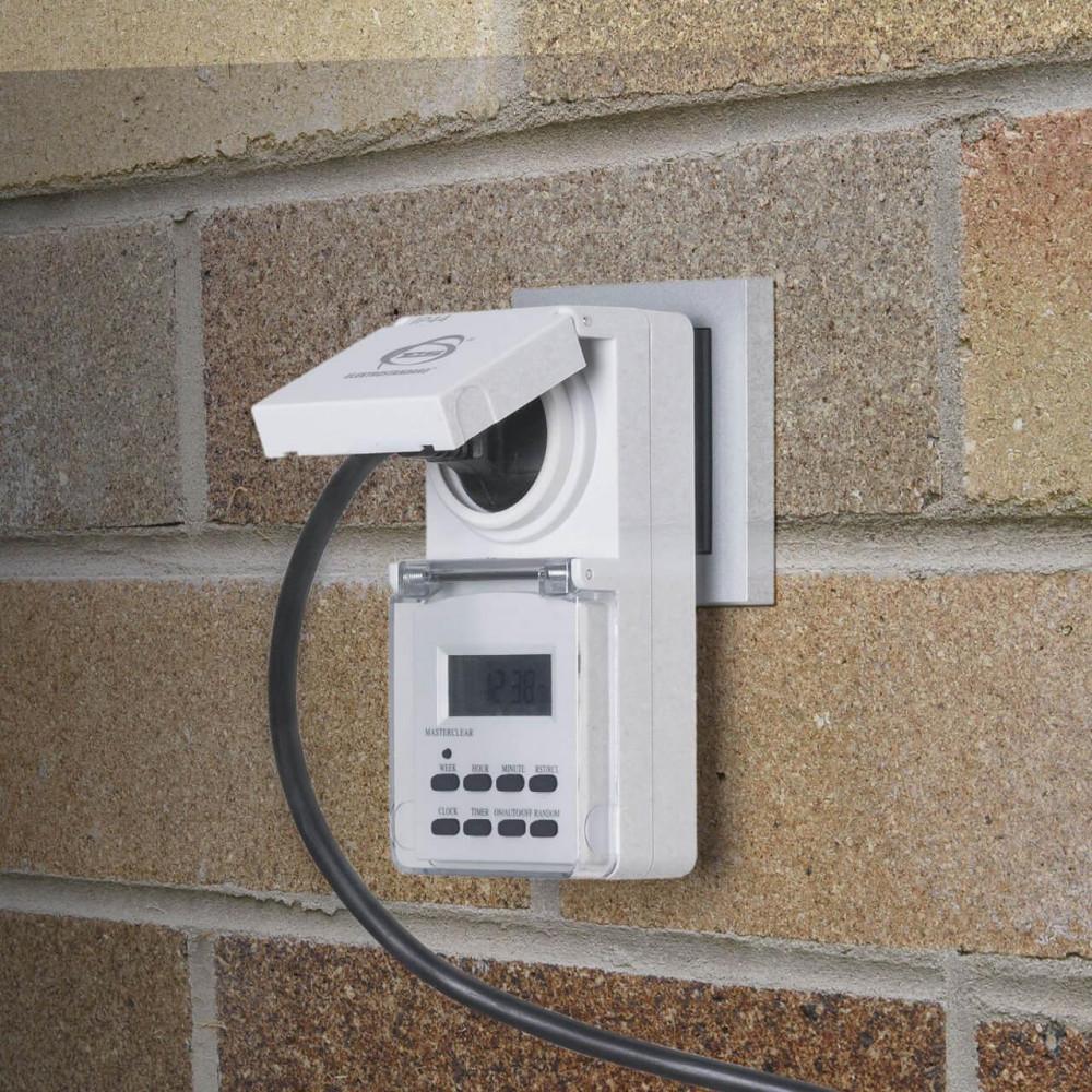 Розетка-таймер Elektrostandard TMH-E-6 16A x1 IP44 Белый 4690389032431