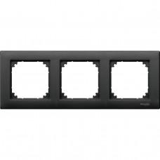 Рамка 3-постовая Schneider Electric Merten System M MTN486314