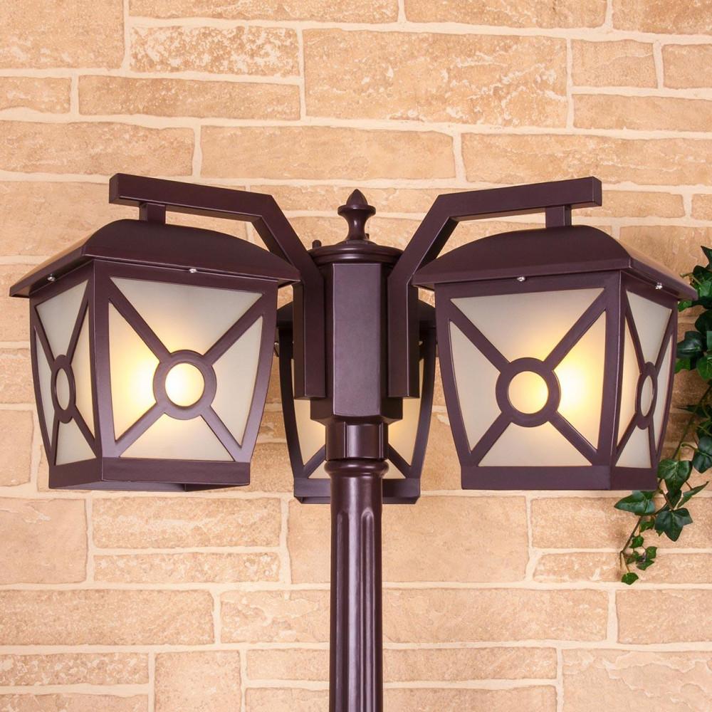 Садово-парковый светильник Elektrostandard Columba F/3 коричневый GL 1022F/3 4690389137303