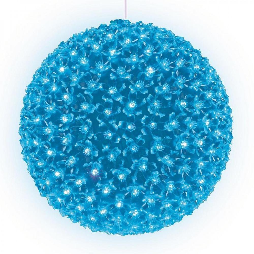 Подвесной светильник «Шар с цветами сакуры» d=27см (09576) Uniel ULD-H2727-300/DTA LIGHT BLUE IP20