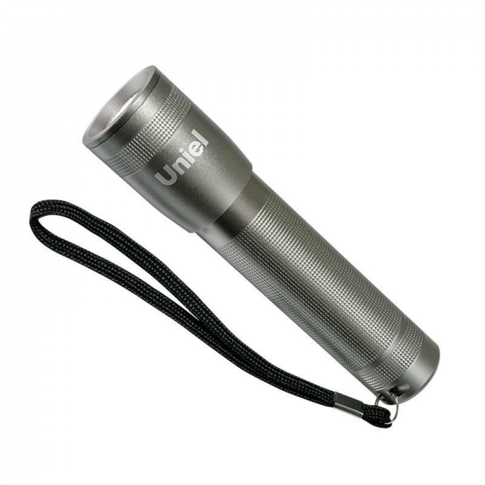 Ручной светодиодный фонарь (03480) Uniel от батареек 60 лм S-LD015-C Silver