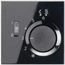 Регулятор теплого пола 10(4)А Jung LS 990 черный FTRLS231SW