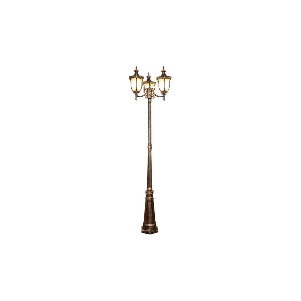 Садово-парковый светильник Elektrostandard Taurus F/3 черное золото 4690389065064