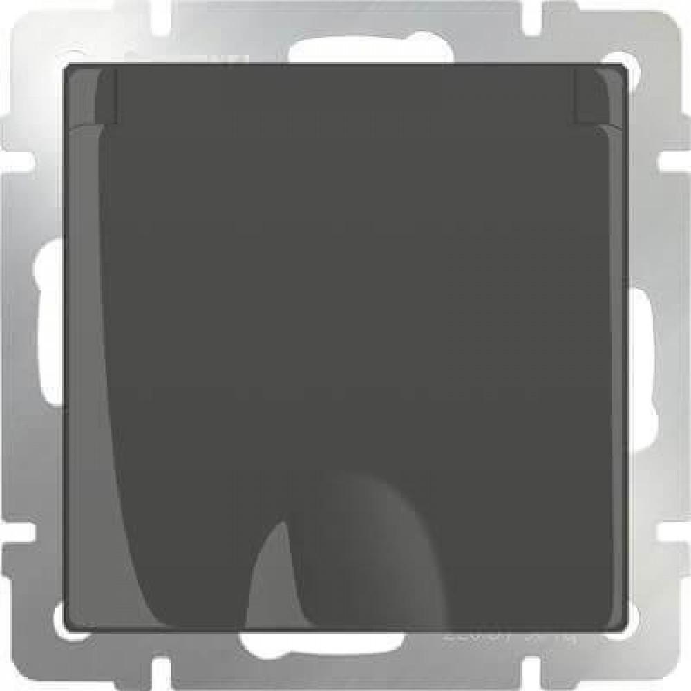 Розетка с заземлением с защитной крышкой и шторками WL07-SKGSC-01-IP44 4690389054075