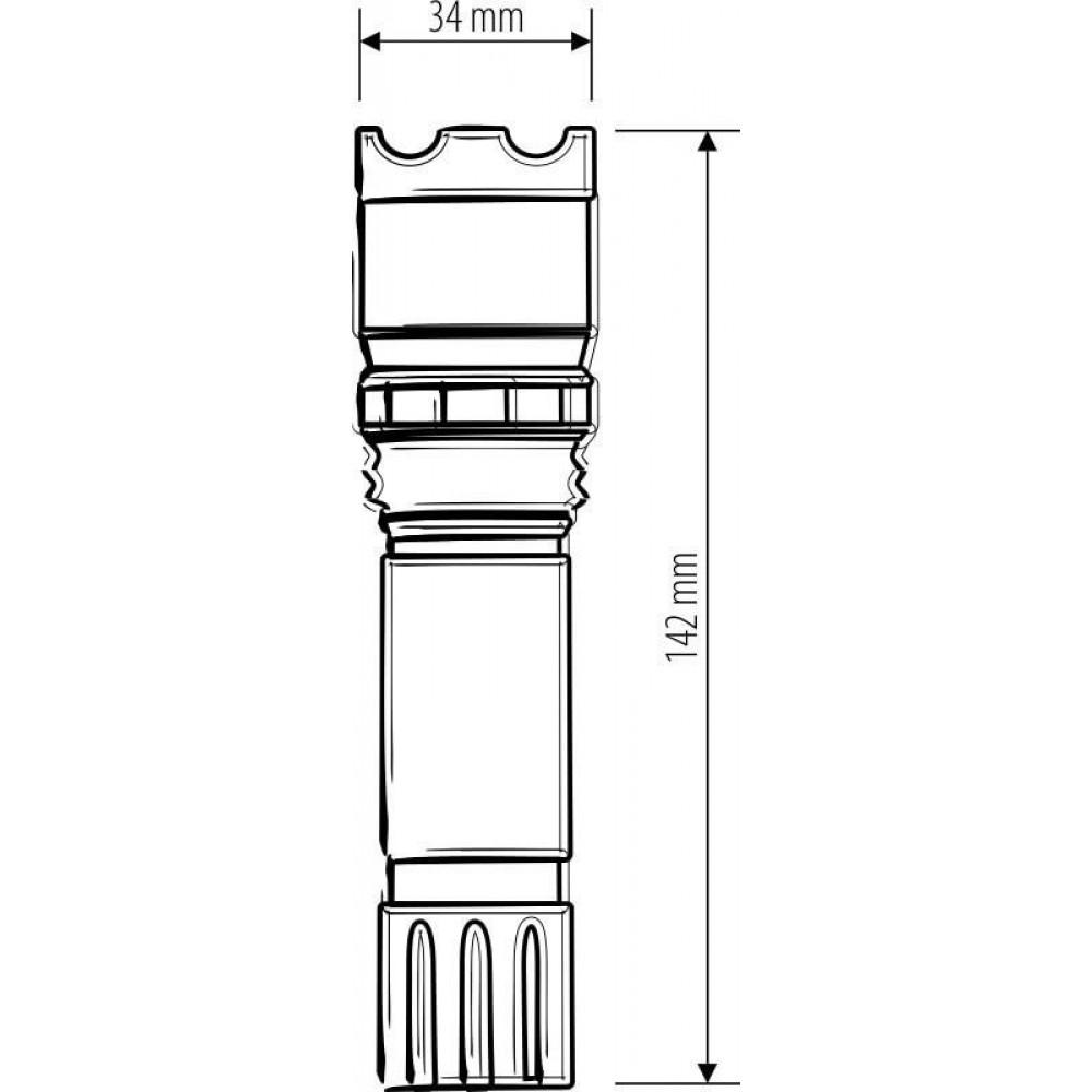 Ручной светодиодный фонарь Elektrostandard Focus Line от батареек 142х34 180 лм 4690389032547