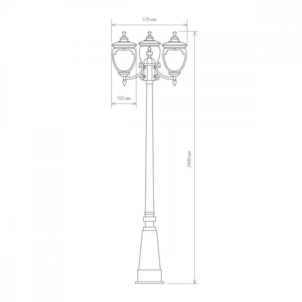 Садово-парковый светильник Elektrostandard Andromeda F/3 (GLYF-8024F/3) 4690389042713