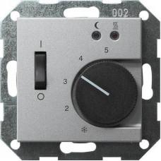 Термостат Gira System 55 теплого пола алюминий 039426