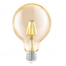 Лампа светодиодная филаментная Eglo E27 4W 2200К янтарь 11522