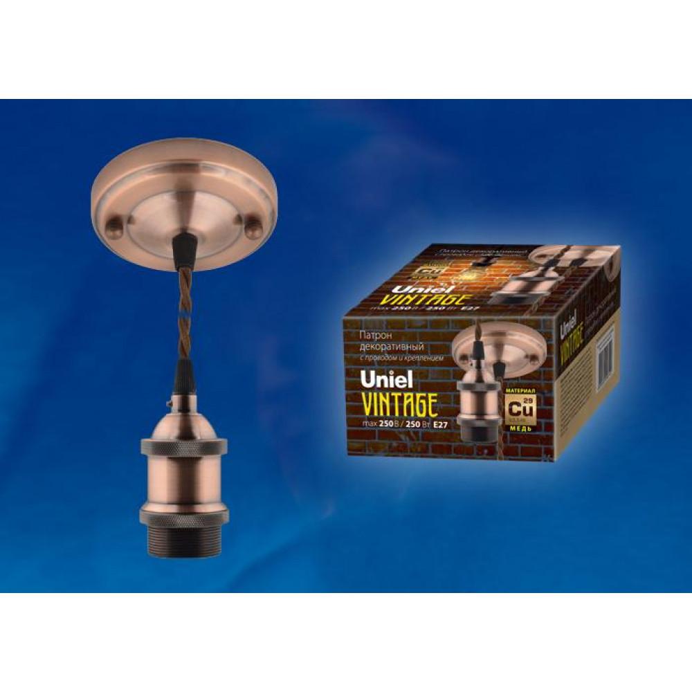 Подвесной светильник (UL-00002824) Uniel DLC-V-S22K/E27 TS/1,5M/BL Bronze