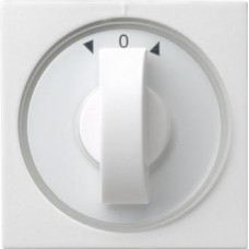 Лицевая панель Gira System 55 выключателя жалюзи чисто-белый шелковисто-матовый 066627