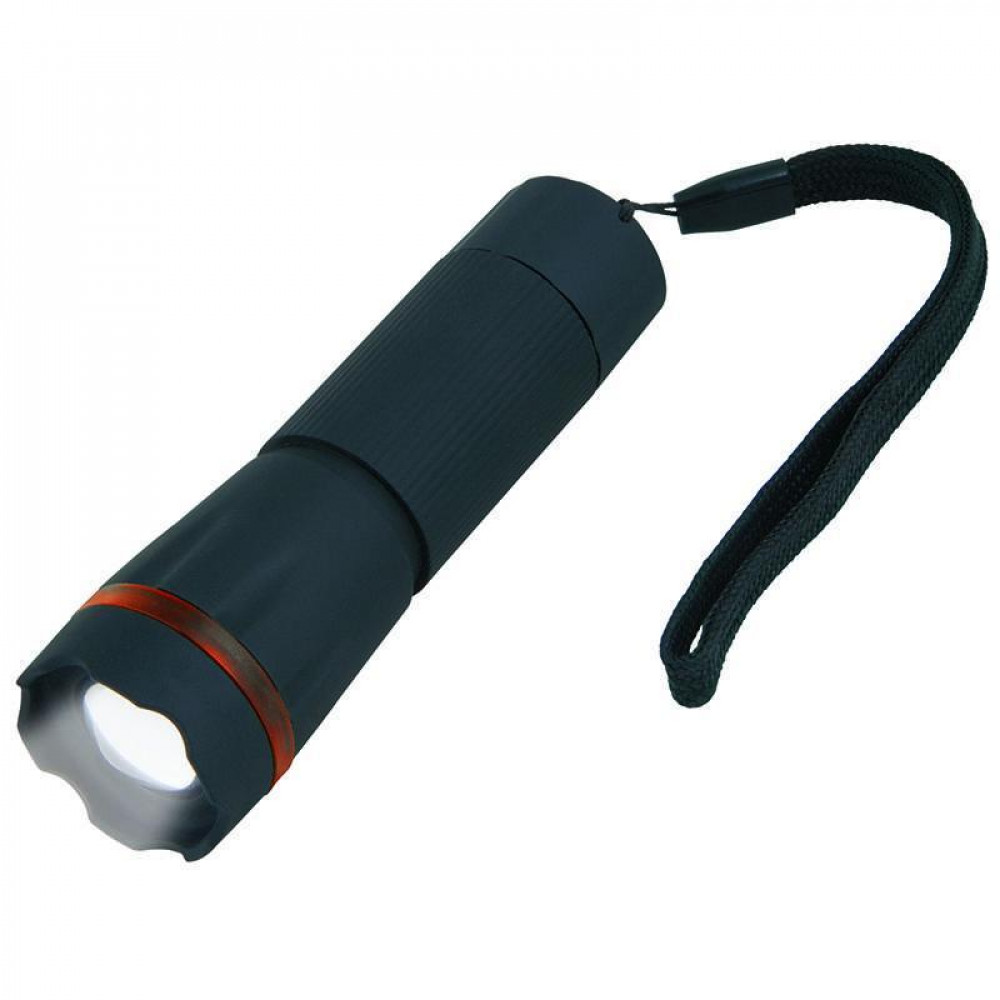 Ручной светодиодный фонарь (07594) Uniel от батареек 105х32 60 лм S-LD037-С Black