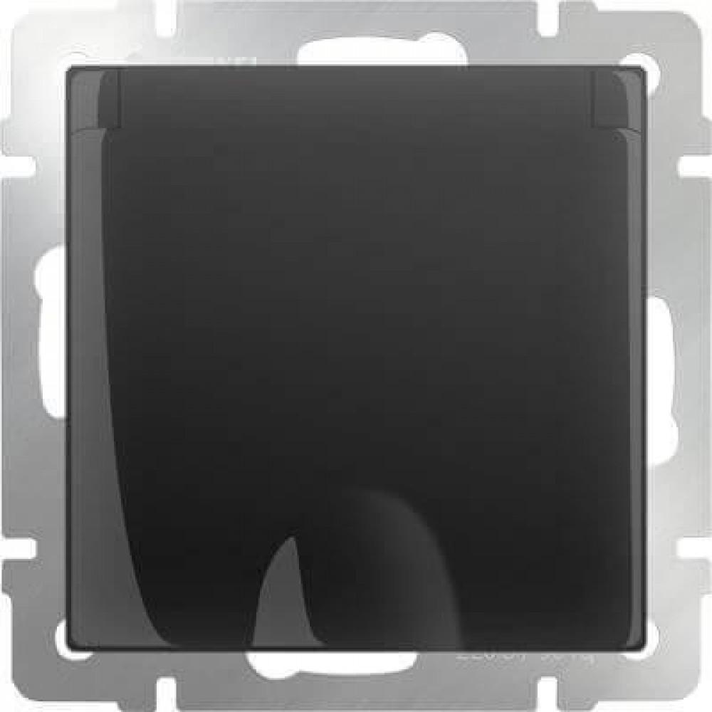 Розетка с заземлением с защитной крышкой и шторками WL08-SKGSC-01-IP44 4690389054235