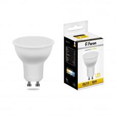 Лампа светодиодная Feron MR16 GU10 9W 2700K Грибок матовая LB-560 25842