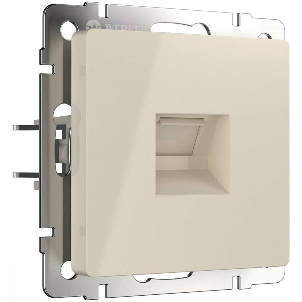 Розетка Ethernet RJ-45 слоновая кость WL03-RJ-45-ivory 4690389046261