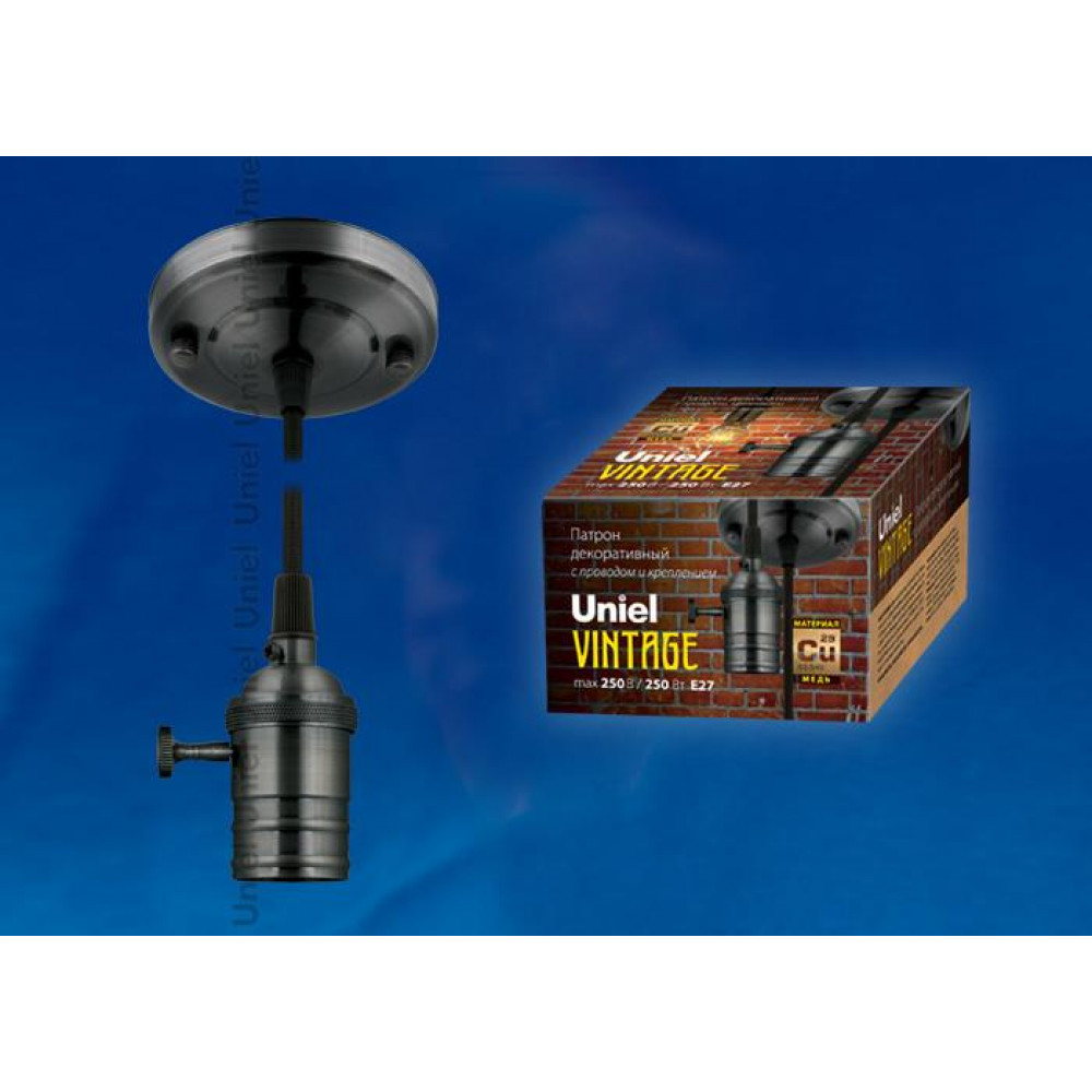 Подвесной светильник (UL-00000529) Uniel DLC-V-S21K/E27 TS/1,5M/BL Dark Copper