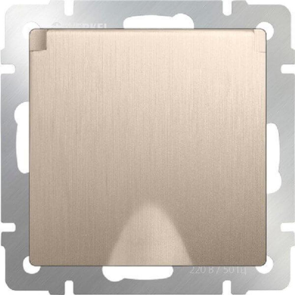 Розетка с заземлением с защитной крышкой и шторками WL10-SKGSC-01-IP44 4690389085260