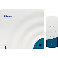 Звонок дверной беспроводной Feron A-138C Электрический 8 мелодий белый с питанием от батареек