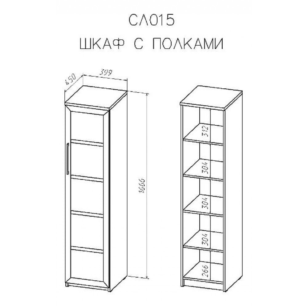Шкаф -витрина Соло 015-3302
