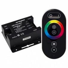Контроллер-регулятор цвета RGB с пультом ДУ Arlight LN-RF6B LN-RF6B-Sens Black (12-24V, 3x8A)