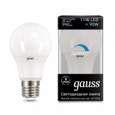 Лампа светодиодная диммируемая Gauss 1025 E27 11Вт 4100K 102502211-D