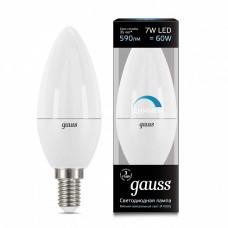 Лампа светодиодная диммируемая Gauss 1031 E14 7Вт 4100K 103101207-D