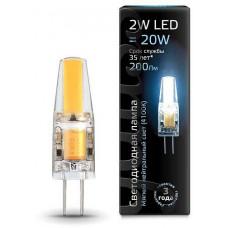 Лампа светодиодная Gauss 1077 G4 2Вт 4100K 107707202