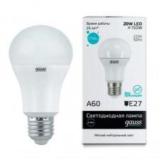 Лампа светодиодная Gauss 232 E27 20Вт 4100K 23229