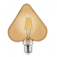 Лампа светодиодная Horoz Electric Rustic Heart-6 E27 6Вт 2200K HRZ00002375