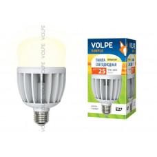 Лампа светодиодная с матовым рассеивателем Volpe LED-M80-25W/WW/E27/FR/S Материал корпуса термопластик. Цвет свечения теплый белый. Серия Simple