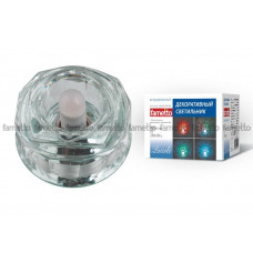Светильник встраиваемый декоративный ТМ Fametto DLS-L119 G9 GLASSY/CLEAR/RGB