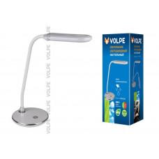 Светильник настольный светодиодный TLD-522 ТМ VOLPE 360Lm/DW/Dimmer/Цвет - серебристый