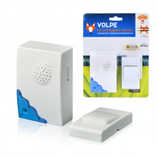 Звонок беспроводной ТМ Volpe UDB-Q022 W-R1T1-16S-30M-WH 16 мелодий. Световая индикация. Радиус действия 30 метров. Блистерная упаковка. Цвет-белый