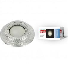 Светильник встраиваемый декоративный ТМ Fametto DLS-L105 GU5.3 CHROME/CLEAR